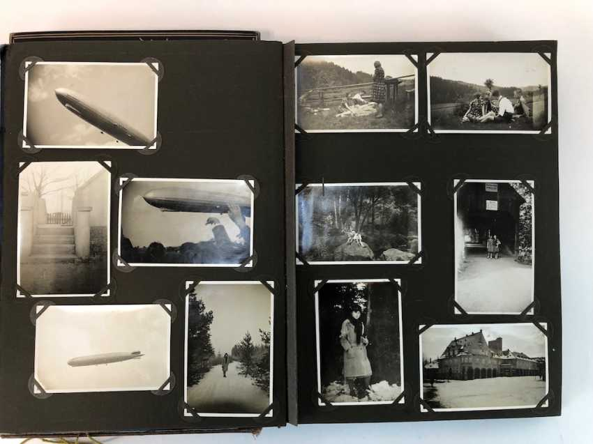 Five photo albums 1930-s: 250 photos from Gera, Werdau, Kronach, watch, and, of Leipzig, Zeppelin flight, Jessen, Meissen. - photo 6