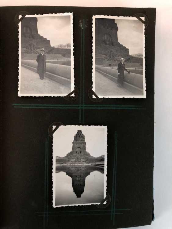 Five photo albums 1930-s: 250 photos from Gera, Werdau, Kronach, watch, and, of Leipzig, Zeppelin flight, Jessen, Meissen. - photo 7