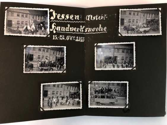 Five photo albums 1930-s: 250 photos from Gera, Werdau, Kronach, watch, and, of Leipzig, Zeppelin flight, Jessen, Meissen. - photo 8