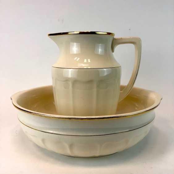 Laundry set: wash bowl and pitcher. Villeroy & Boch, Mettlach Art Nouveau Style. - photo 1
