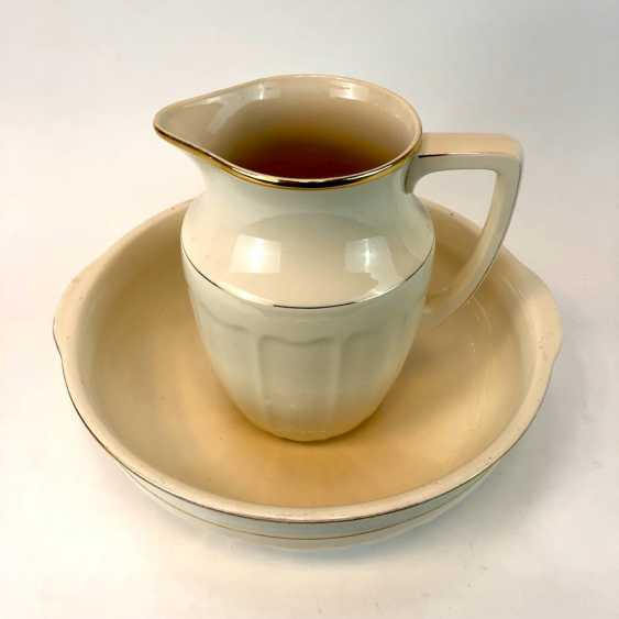 Laundry set: wash bowl and pitcher. Villeroy & Boch, Mettlach Art Nouveau Style. - photo 2