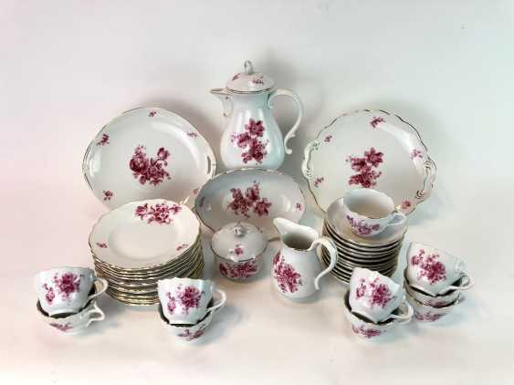 Coffee Service: Meissen Teichert marked. New neck decor German flower purple. 1920. - photo 1