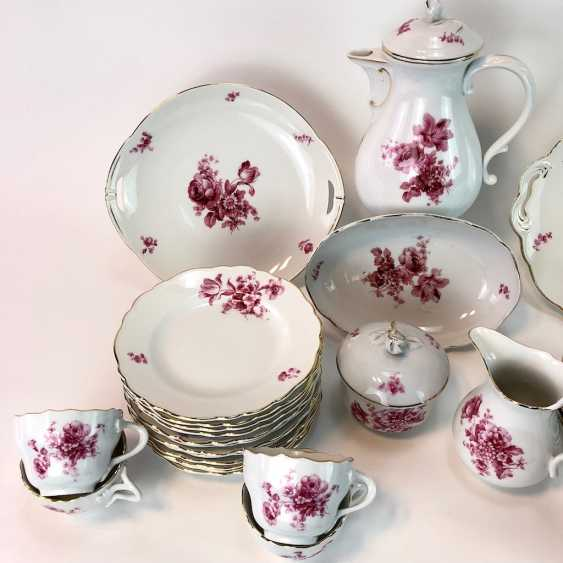 Coffee Service: Meissen Teichert marked. New neck decor German flower purple. 1920. - photo 2