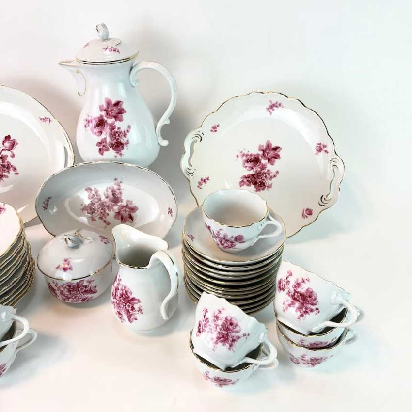 Coffee Service: Meissen Teichert marked. New neck decor German flower purple. 1920. - photo 3