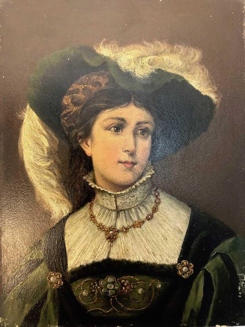 Art Nouveau Portrait of a young lady. - photo 1
