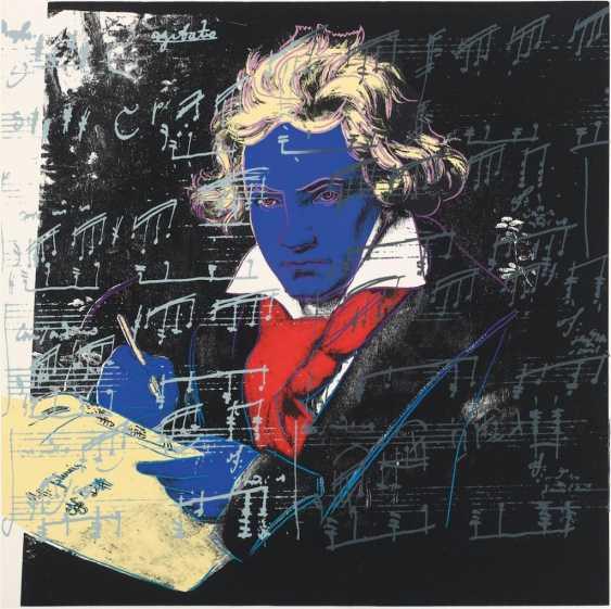 "Andy Warhol (Pittsburgh 1928 - 1987 New York): ""Beethoven"", 1987. Achenbach Art Edition 1992. 101,6 x 101,6 cm. - photo 1"