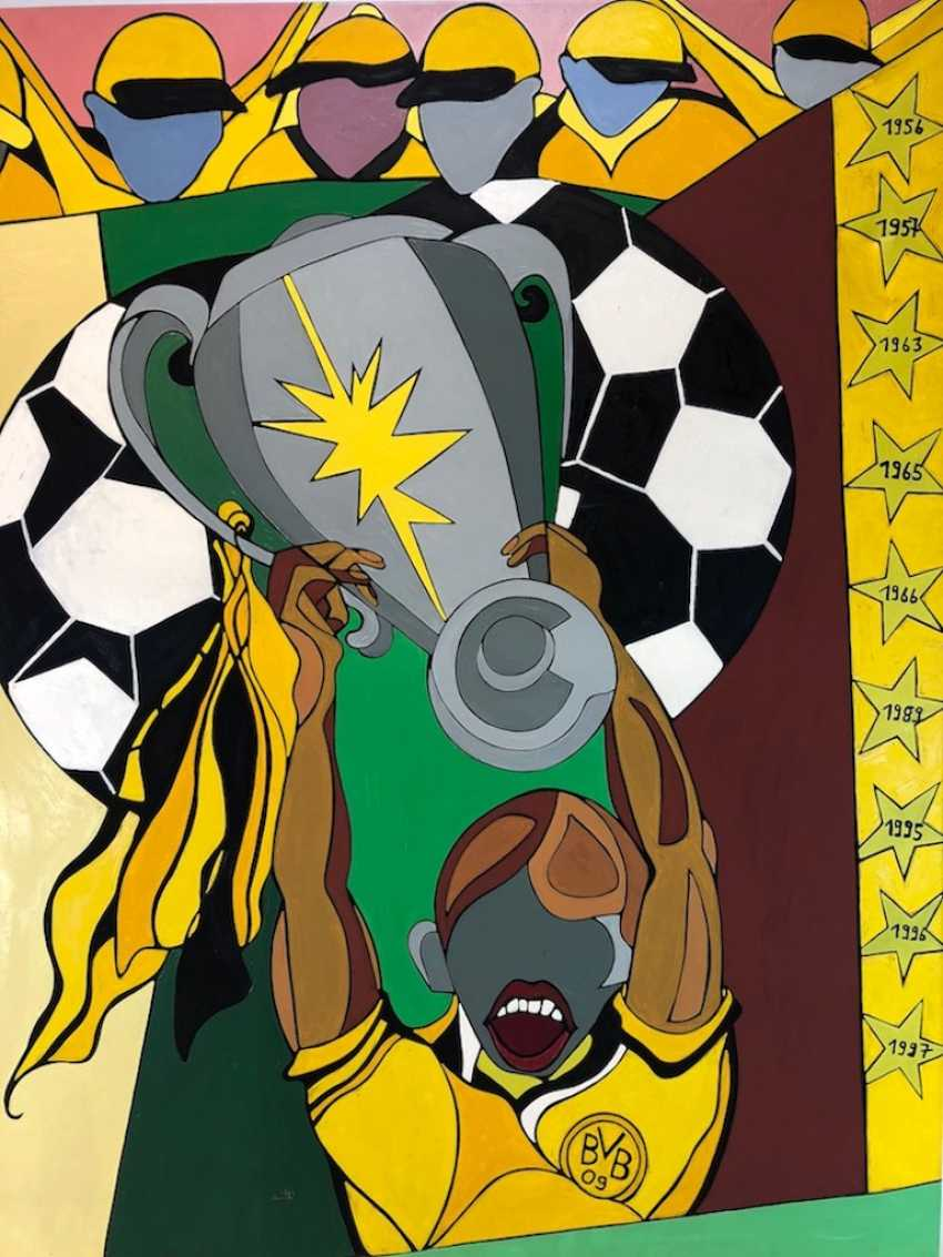 German artists: paintings to the Win of the German championship of Borusia Dortmund (BVB). - photo 1