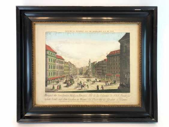 "Graben in Vienna: ""the Prospect of the famous Holy Dreyfaltigkeits column on the Graben in Wienn"". Copper engraving, 1770. - photo 2"