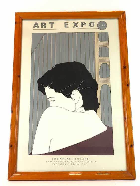 "Patrick Nagel (1945-1984): Very rare lithography of the International art exhibition ""ART EXPO"". San Francisco, 1981 - photo 1"