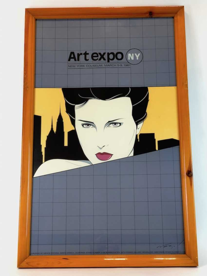 "Patrick Nagel (1945-1984): Very rare lithography of the International art exhibition ""ART EXPO"". New York, 1981. - photo 2"