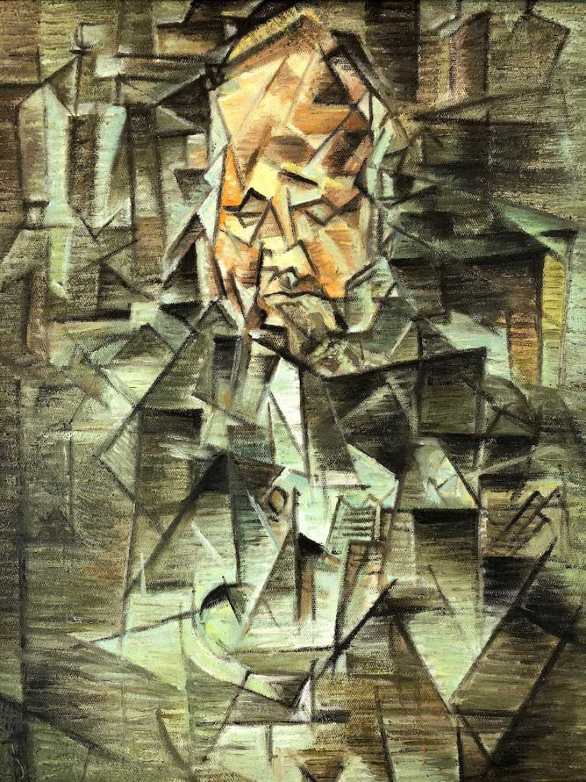 "Unknown. Artist: ""Portrait of Ambroise Vollard"" Oil on canvas after Pablo Picasso. - photo 1"
