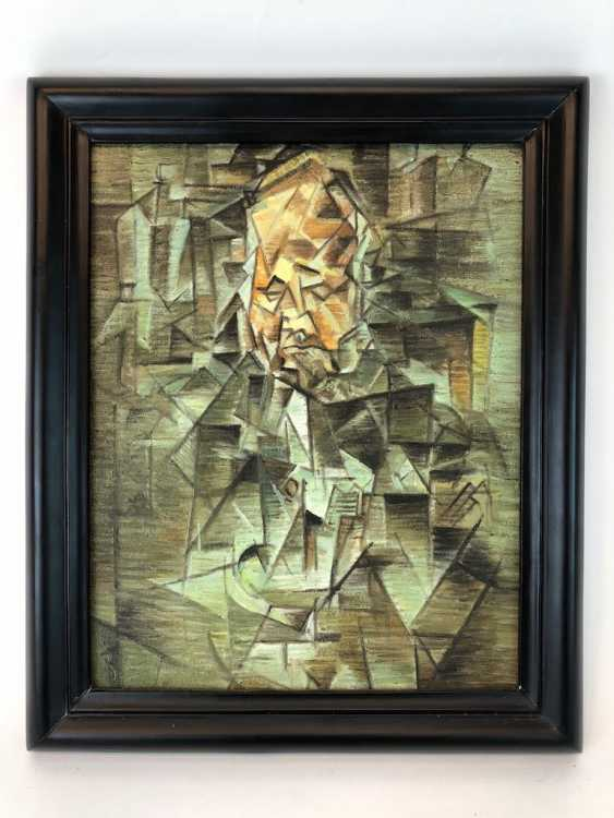 "Unknown. Artist: ""Portrait of Ambroise Vollard"" Oil on canvas after Pablo Picasso. - photo 2"