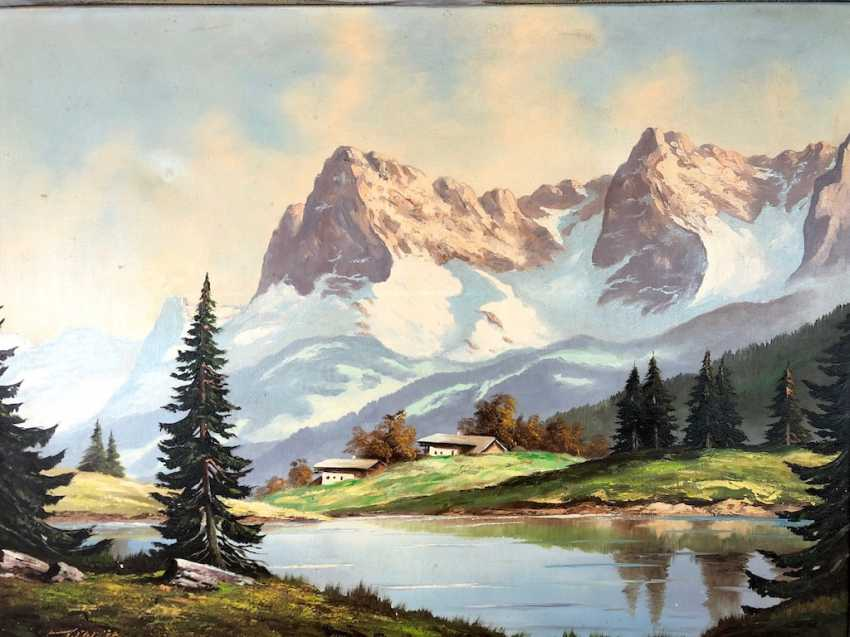 "Willi Welte: ""Karwendel"". Oil on canvas. 1940. - photo 1"