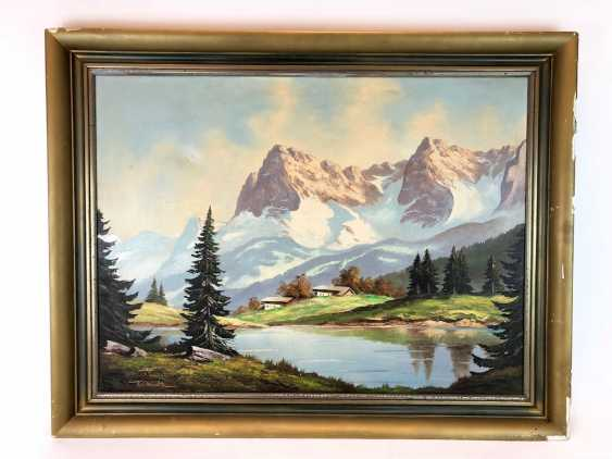 "Willi Welte: ""Karwendel"". Oil on canvas. 1940. - photo 2"