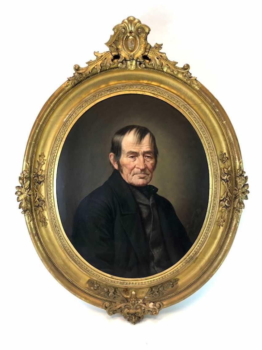 """J. Nentwitz: """"Erbmüller Beautiful in Stürza in Stolpen"""". Portrait, Oil on canvas. 1874. - photo 1"""