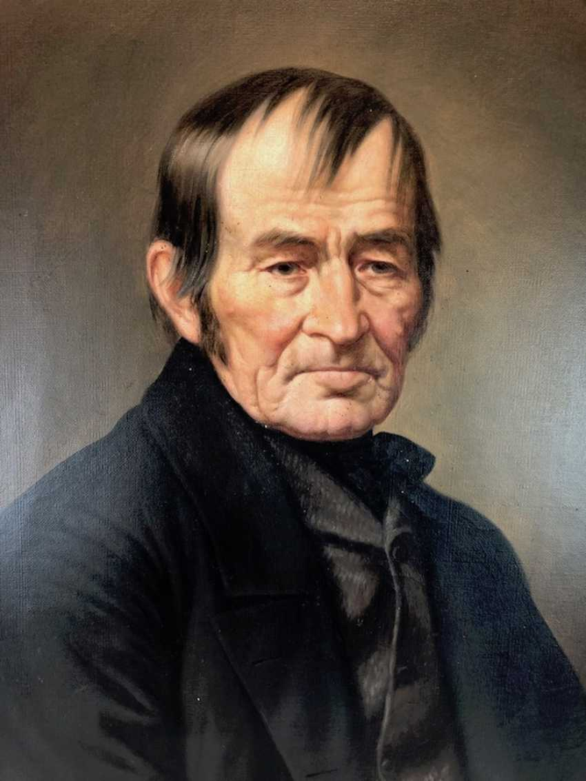 """J. Nentwitz: """"Erbmüller Beautiful in Stürza in Stolpen"""". Portrait, Oil on canvas. 1874. - photo 3"""