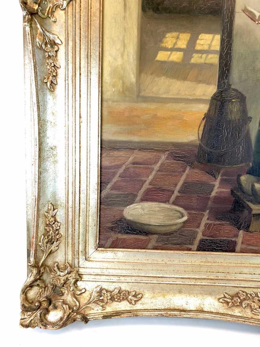 Голландский творческого художника: Читающая служанка на кухне. Холст, масло. Предыдущий 20. Века - фото 2