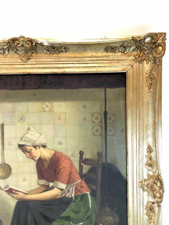 Голландский творческого художника: Читающая служанка на кухне. Холст, масло. Предыдущий 20. Века - фото 4