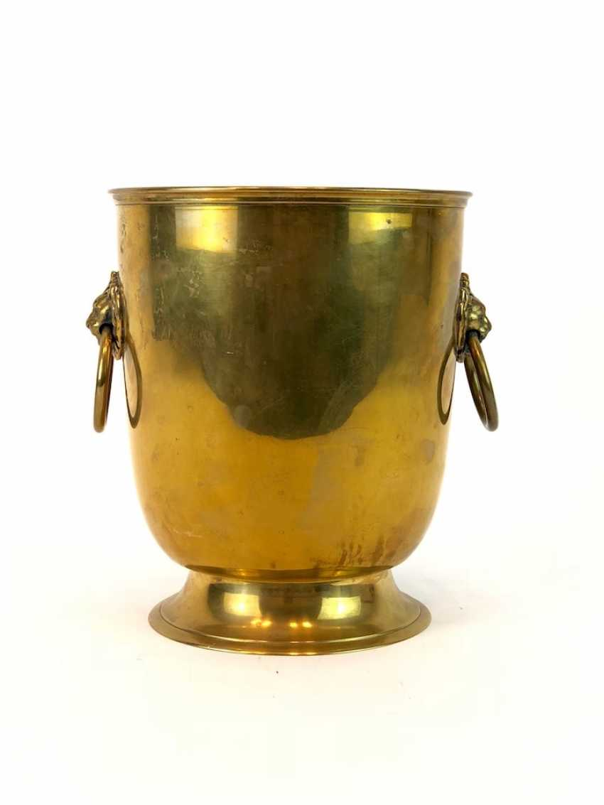 Large Champagne Cooler / Champagne Cooler, Champagne Bottles, Brass, 1. Half of the 20. Century very well. - photo 2