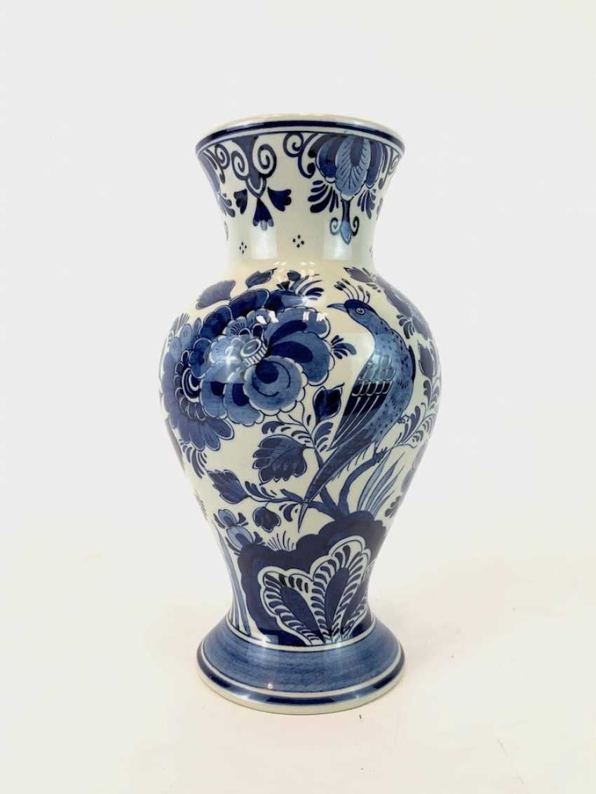 Hand-painted Vase: Delft blue RAAM, ceramic. - photo 1