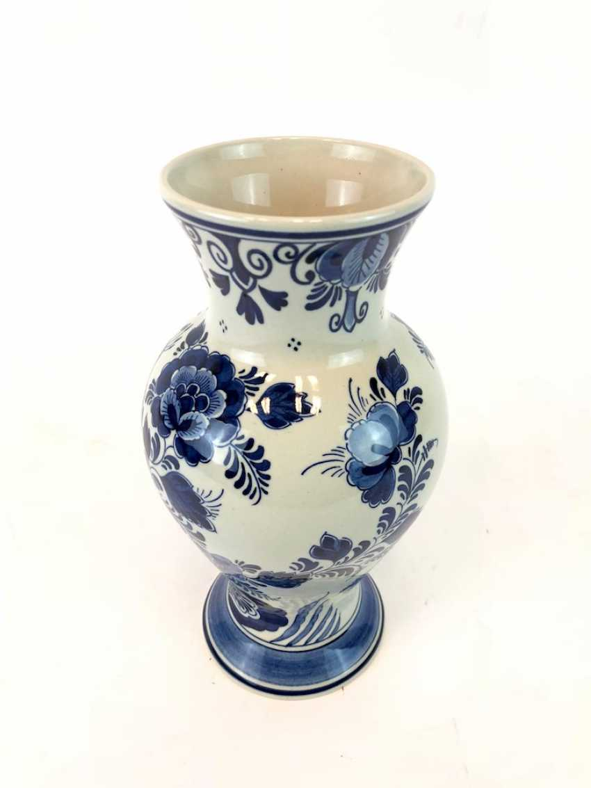 Hand-painted Vase: Delft blue RAAM, ceramic. - photo 2