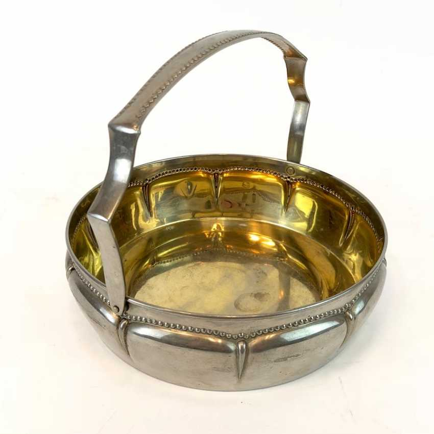 Handle Bowl / Handle-Basket. Silver-plated. - photo 1