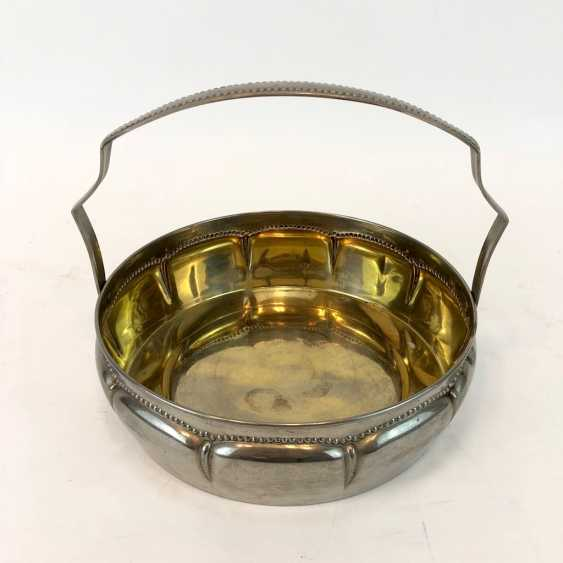Handle Bowl / Handle-Basket. Silver-plated. - photo 2