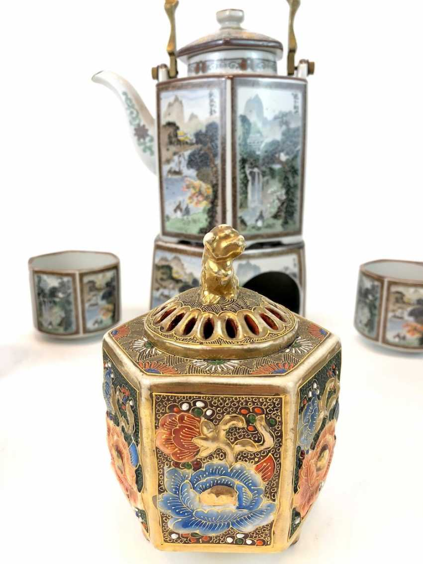Tea set: China, decor Chinese scenes of everyday life. - photo 1
