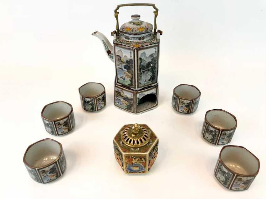 Tea set: China, decor Chinese scenes of everyday life. - photo 2