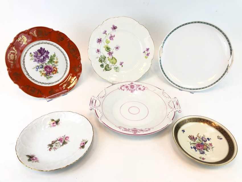 Great Post Anbietteller, plates, bowls: KPM Berlin, Hutschenreuther, Seltmann, Rosenthal. Very good. - photo 1