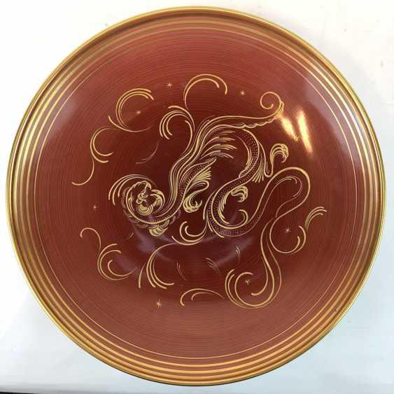 Big top bowl: hand-painted, Gold staffieret, Fürstenberg porcelain. - photo 1