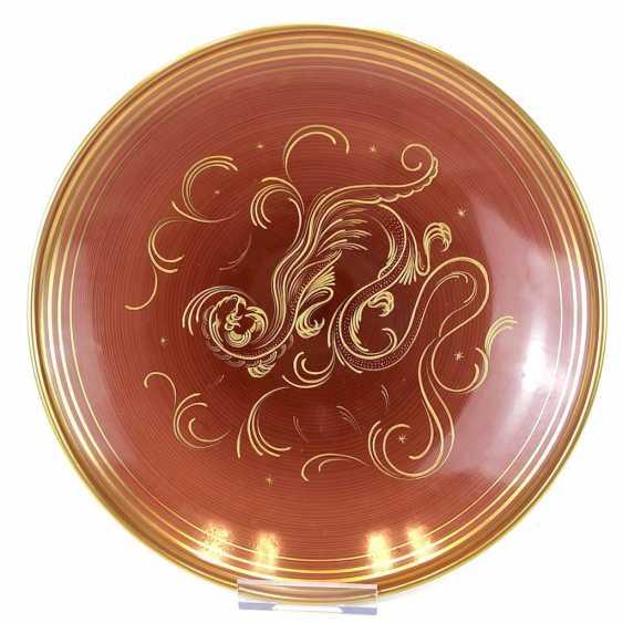 Big top bowl: hand-painted, Gold staffieret, Fürstenberg porcelain. - photo 2