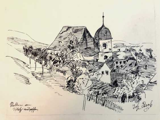 John Beck: drawing Stolpen, studies, architecture, animals and plants. Early 20. Century - photo 1
