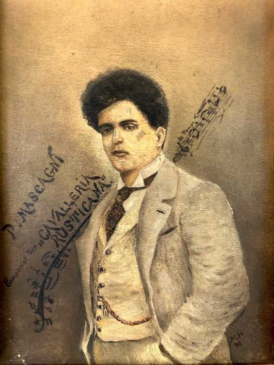 "M. Hagemann: ""P. Mascagni - Componist der Cavalleria Rusticana"". 1898. - photo 1"