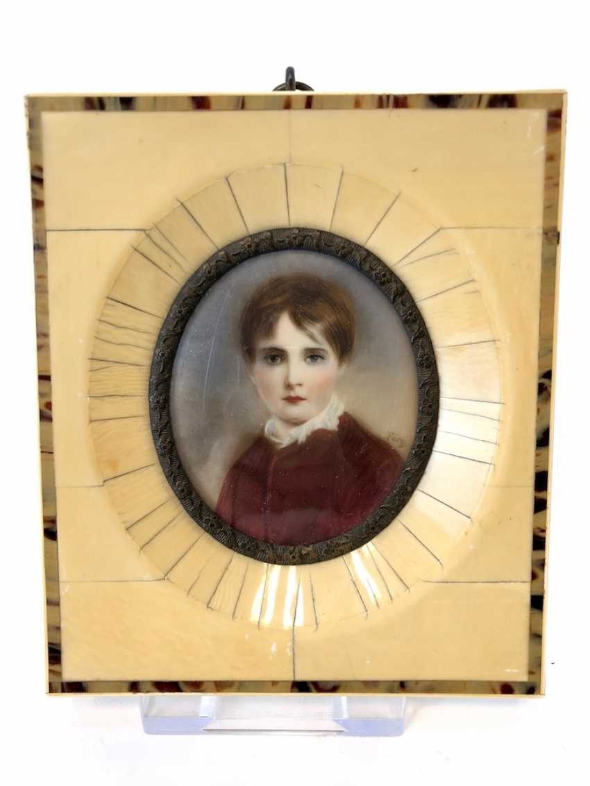 """Ivory miniature: """"Lady Jane Grey"""" the nine days Queen of England. - photo 2"""