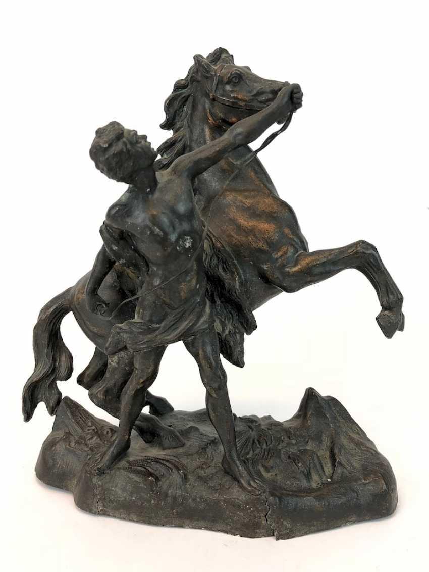 Stallion with a slave. Kupferguß, 1900. - photo 2