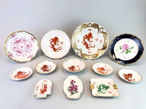 12 plates and shells in décor, red dragon and Red Rose. Very good. - photo 1