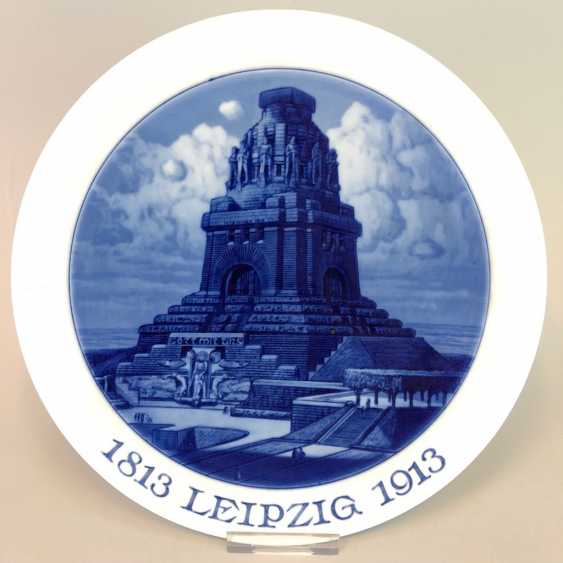 Plate / Wall Plate: Anniversary 100 Years Of The Battle Of Nations, 1813 - 1913. The Battle Of The Nations Monument, Leipzig, 1913. - photo 1