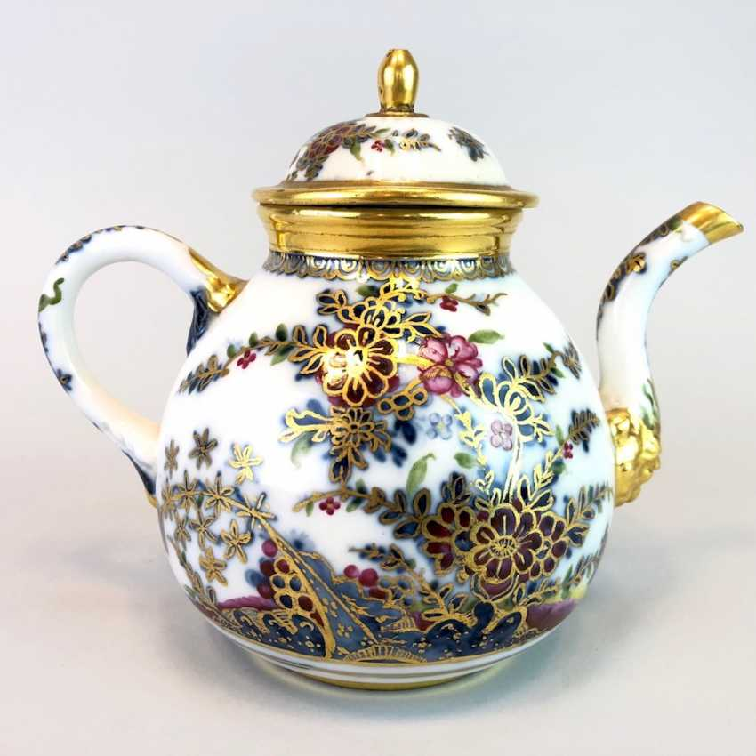Highly significant and Museum-like teapot with mask spout: Meissen porcelain in about 1725. - photo 3