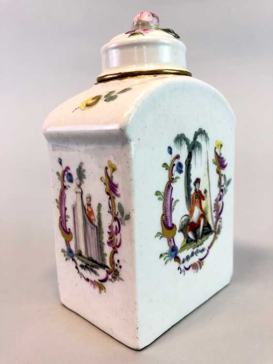 Early and rare tea caddy: Watteau painting, 1740 - photo 2
