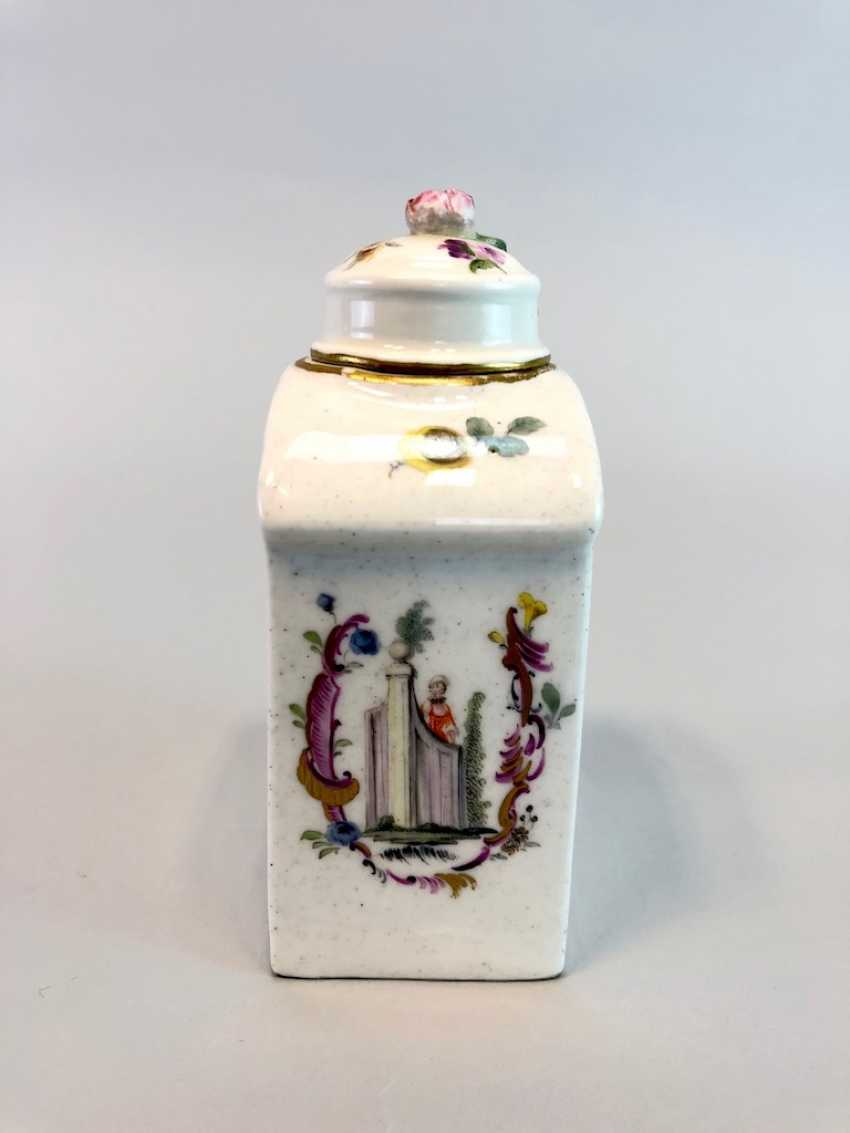 Early and rare tea caddy: Watteau painting, 1740 - photo 5