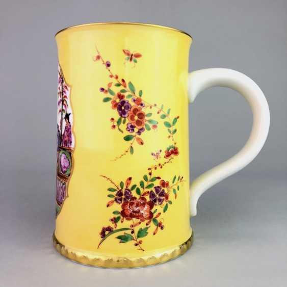 Exceptional rolls, mug / tankard: Meissen porcelain, Johann Georg Hörold, Chinoiserien, gold ornaments, very good. - photo 3