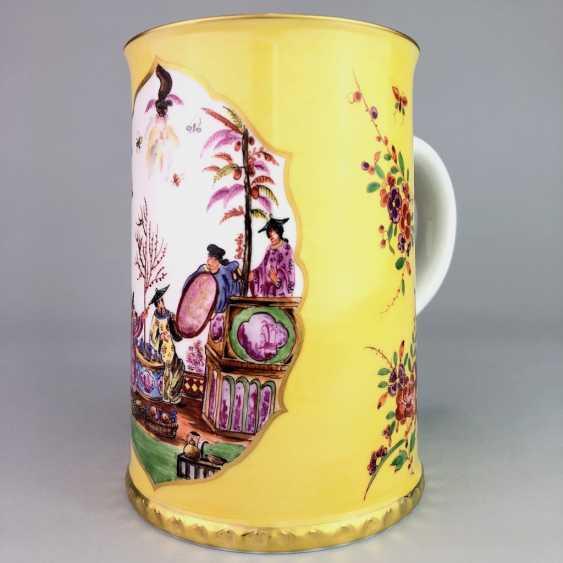 Exceptional rolls, mug / tankard: Meissen porcelain, Johann Georg Hörold, Chinoiserien, gold ornaments, very good. - photo 4