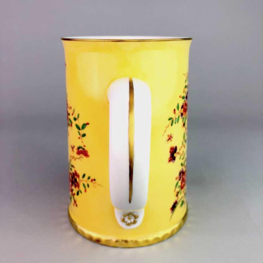 Exceptional rolls, mug / tankard: Meissen porcelain, Johann Georg Hörold, Chinoiserien, gold ornaments, very good. - photo 7