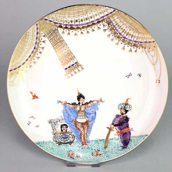 Plate / wall plate: Meissen porcelain 1001 Arabian nights, gold plated, gold ornaments, Prof. Heinz Werner, very good. - photo 1
