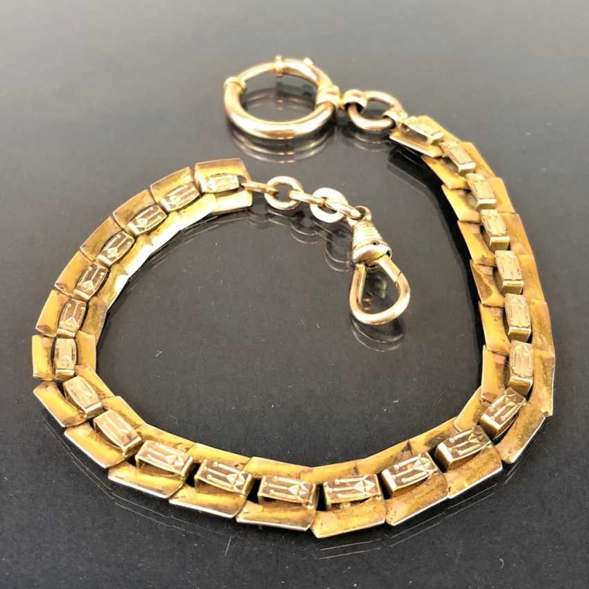 Wide watch chain / chain for pocket watch: Golddoublée, open work around 1900, very nice. - photo 2