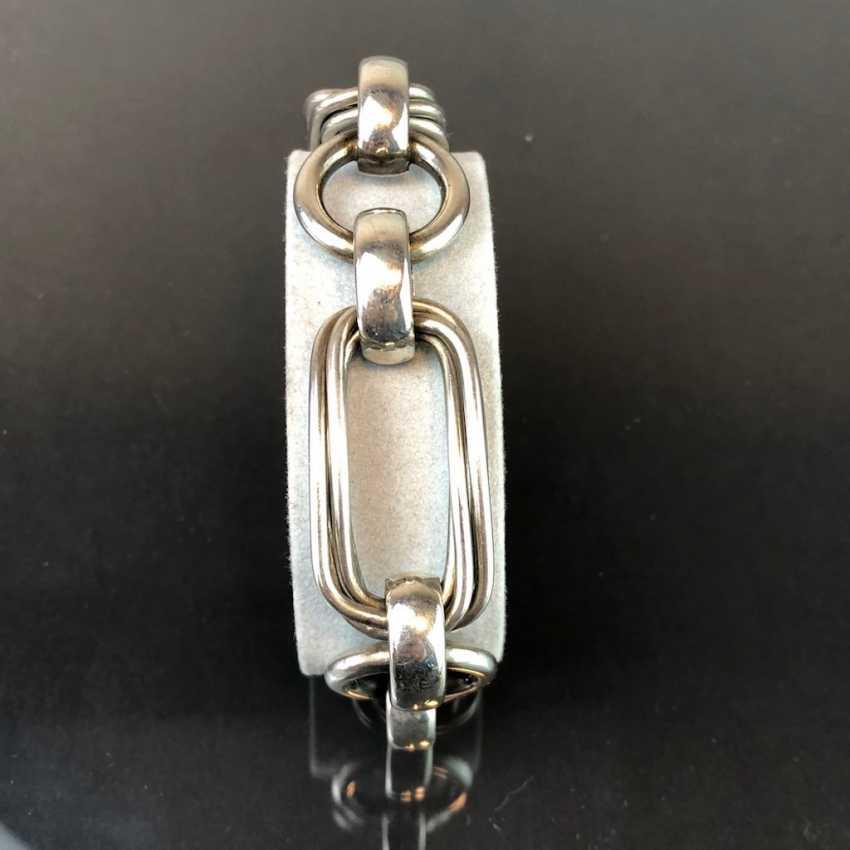 Designerarmband: Silber 925, rhodiniert. UnoAErre, Arezzo. Handarbeit, frühes 20. Jahrhundert - Foto 2