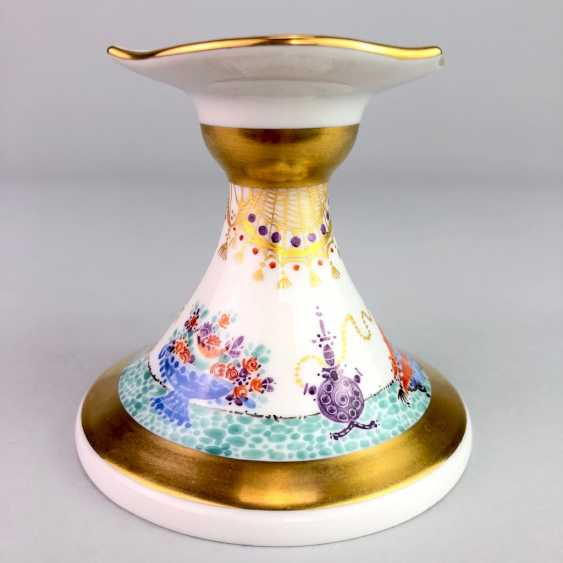 Candlesticks: Meissen porcelain 1001 Arabian nights, gold plated, gold ornaments, Prof. Heinz Werner, very good. - photo 2