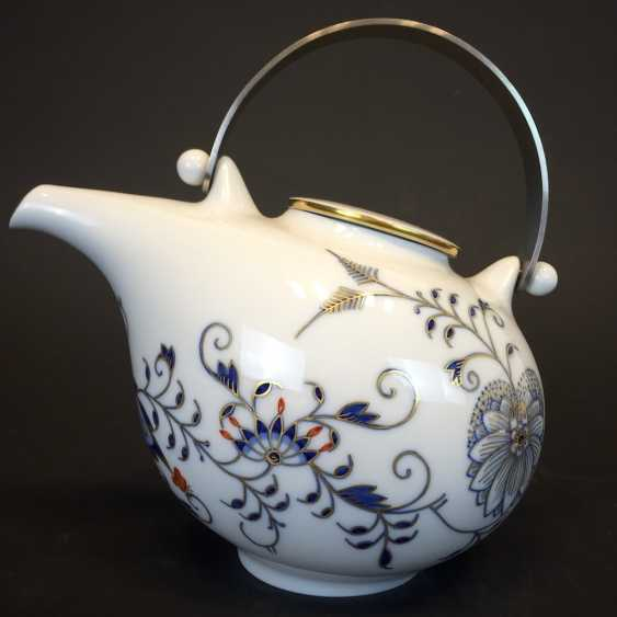 Large caddy: Meissen porcelain, Johann Georg Hörold, Chinoiserien, gold ornaments, very good. - photo 7