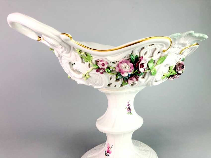 The Magnificent Centrepiece: Meissen Porcelain. Flower decorated, and J. J. Kändler. 1860, very nice. - photo 5